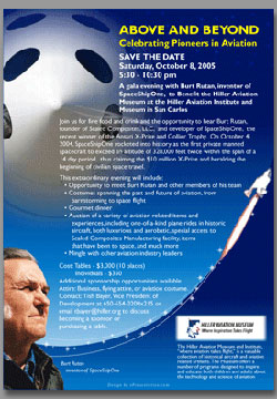 Event Promotion for Burt Rutan