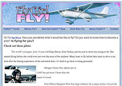 Fly Girl Fly website