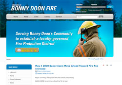 Friends of Bonny Doon Fire website