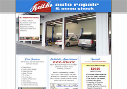 Keiths Auto Repair website