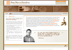 Zino Direct Funding promotional website